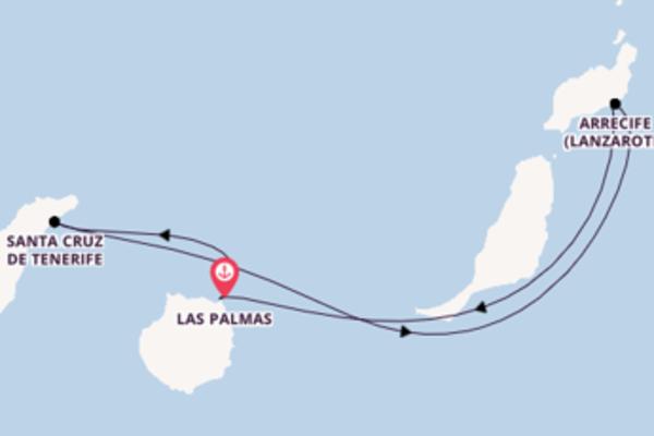 In 5 Tagen nach Las Palmas über Santa Cruz de Tenerife