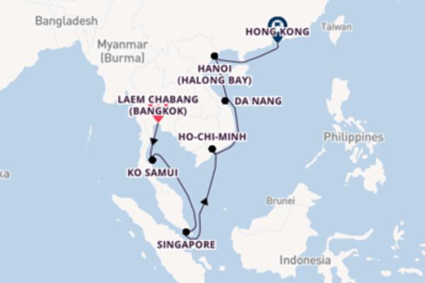 A bordo di Norwegian Sun fino a Hong Kong