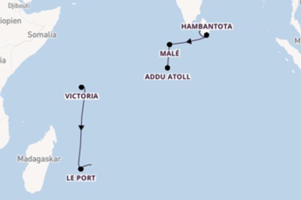 Trauminseln im Indischen Ozean erleben