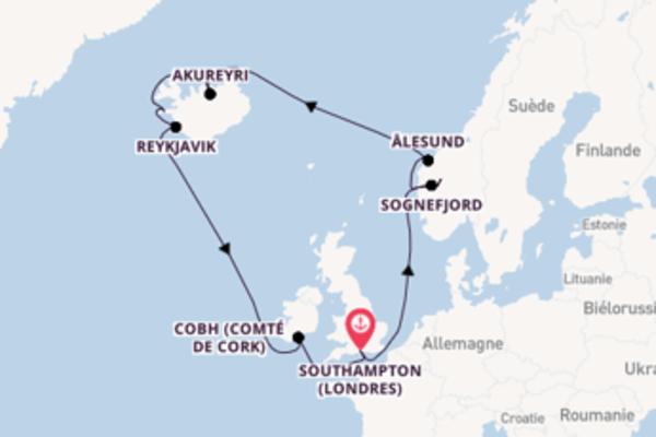 Belle croisière de 15 jours avec P&O Cruises