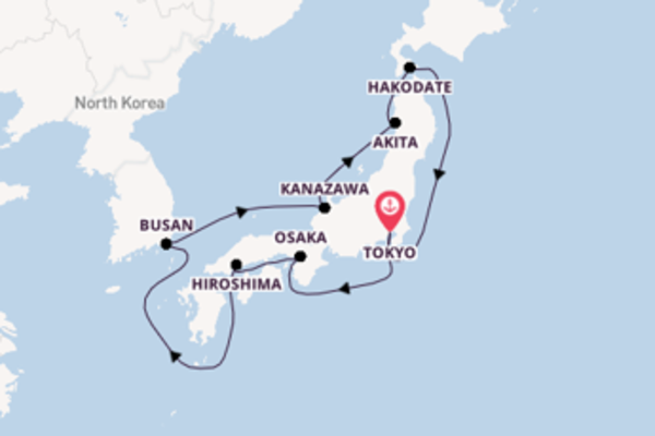 Cruise with Silversea from Tokyo