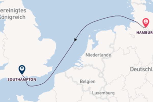 Von Hamburg nach Southampton in 3 Tagen