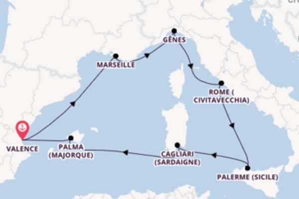 Gênes et une charmante croisière depuis Valence