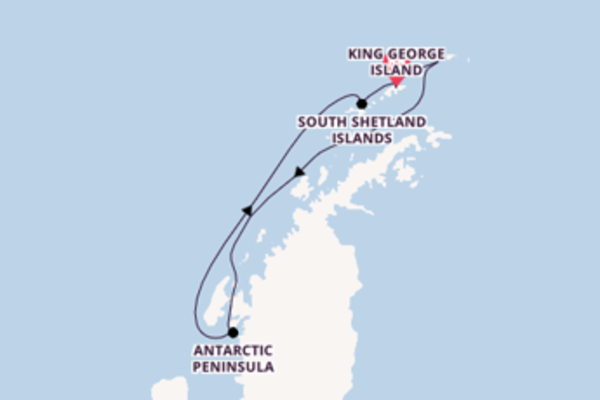7 day journey on board the Silver Explorer from King George Island