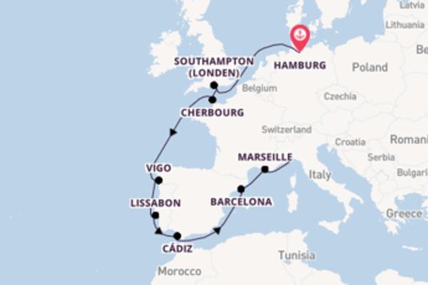 12daagse cruise vanaf Hamburg