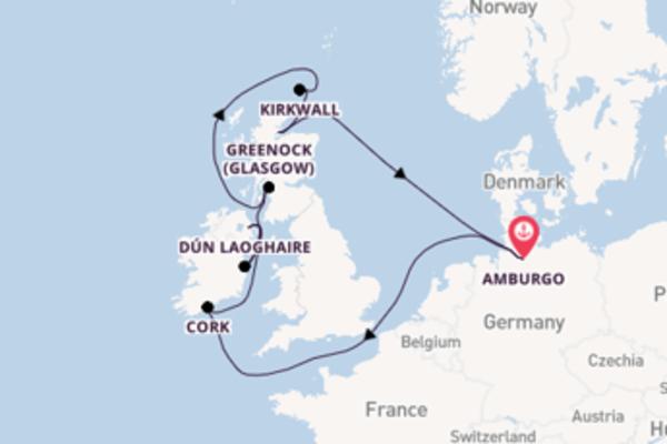 Scopri Greenock (Glasgow) arrivando a Amburgo