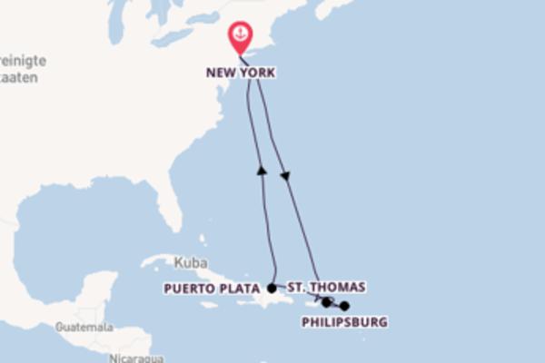 Aufregende Reise über St. Thomas in 11 Tagen