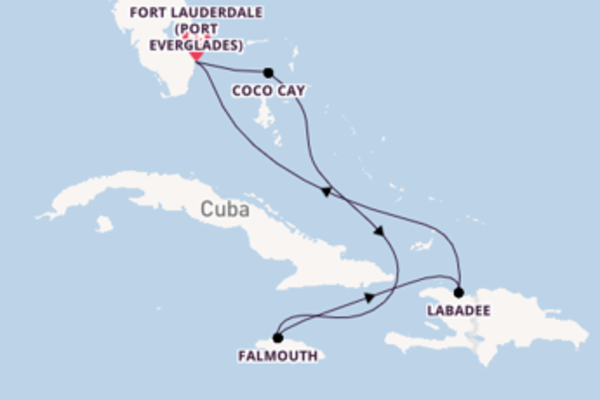 Vibrant voyage from Fort Lauderdale (Port Everglades) with Royal Caribbean
