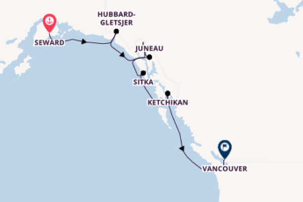 8-daagse cruise vanaf Seward