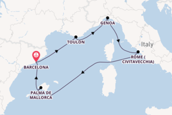 Cruise with Cunard from Barcelona
