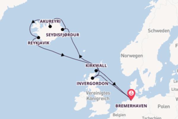 Erleben Sie Seydisfjørdur auf der Mein Schiff 3