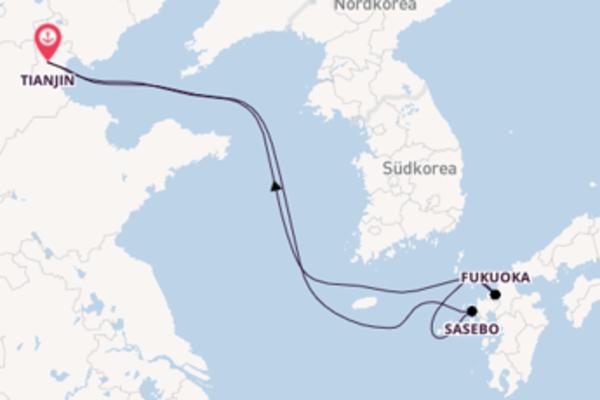 Zauberhafte Reise über Sasebo in 6 Tagen