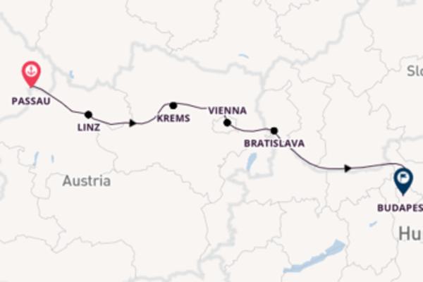 Expedition from Passau to Budapest via Passau