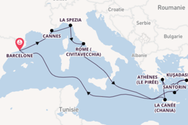 Croisière de 13 jours vers Barcelone avec Royal Caribbean