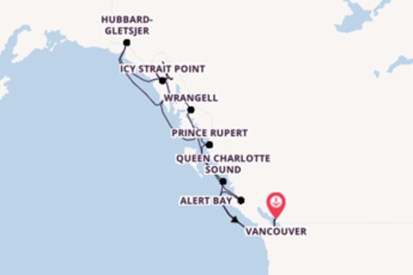 Vaar met de Seabourn Odyssey naar Vancouver