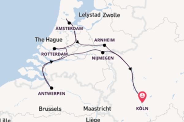 In 8 Tagen nach Köln