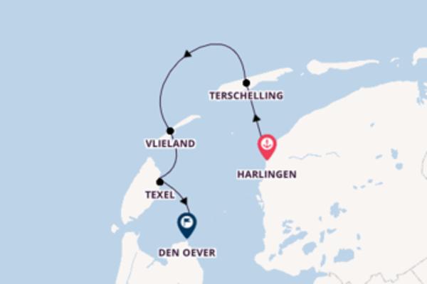 Holländische Inseln, Rad & Segeln mit dem Traditionssegler