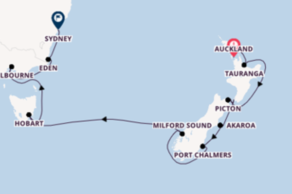 Journey with Silversea from Auckland to Sydney