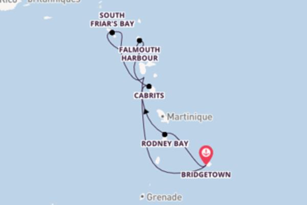 8 jours pour découvrir Basseterre à bord du bateau Royal Clipper