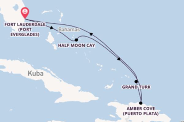 In 7 Tagen nach Fort Lauderdale über Amber Cove