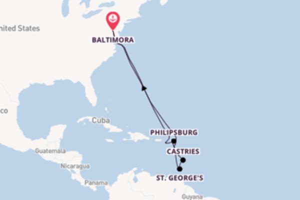 13 giorni verso Baltimora passando per Philipsburg