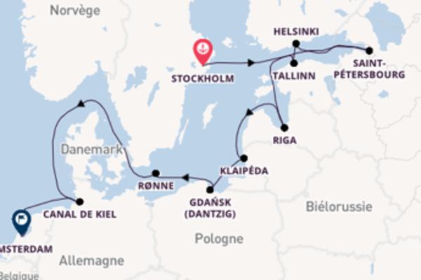 13 jours pour découvrir Canal de Kiel à bord du beateau Azamara Quest