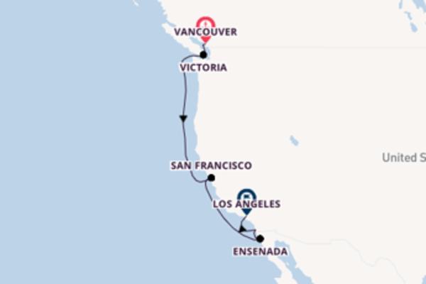 Da Vancouver a Los Angeles passando per Victoria in 8 giorni