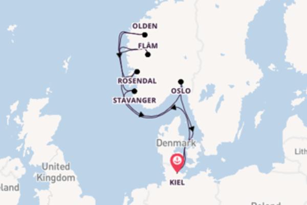 11-daagse cruise met de AIDAluna vanuit Kiel