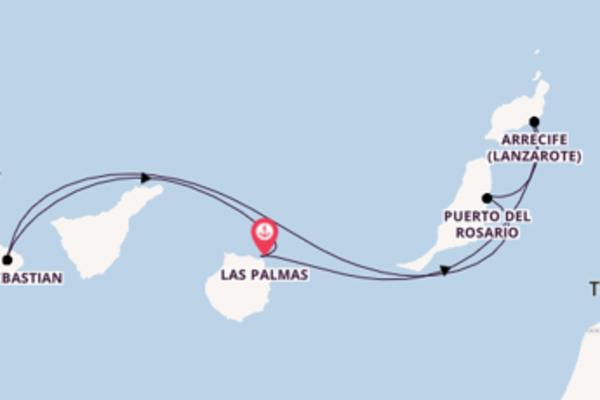 8-tägige Kreuzfahrt ab Las Palmas