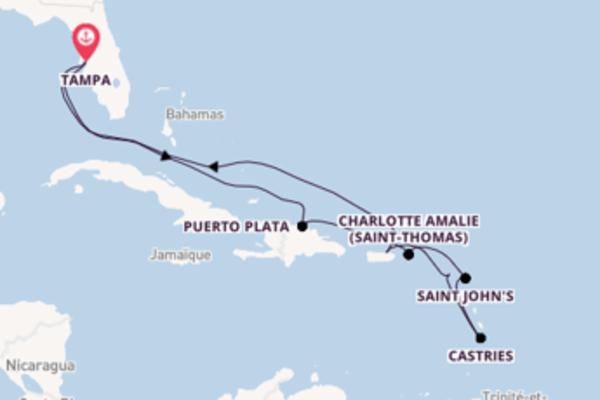Puerto Plata et une douce croisière depuis Tampa
