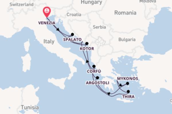 11 giorni verso Venezia passando per Argostoli