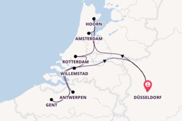 11-daagse cruise met de Anesha vanuit Düsseldorf