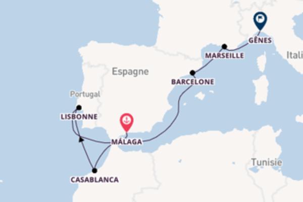 Élégante balade de 8 jours au départ de Málaga