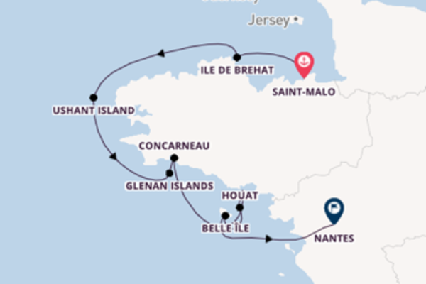 8 day sail on board the Le Jacques Cartier from Saint-Malo