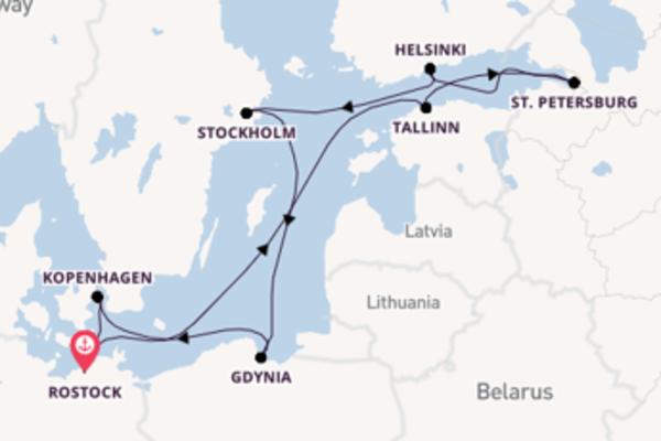 Vaar langs het wonderschone Gdynia