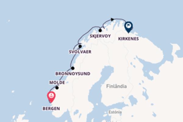 Belíssimo passeio de 7 dias com o Kong Harald