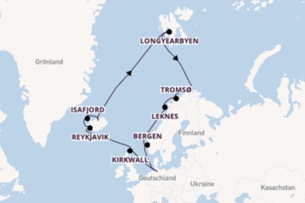 In 18 Tagen nach Hamburg über Tromsø