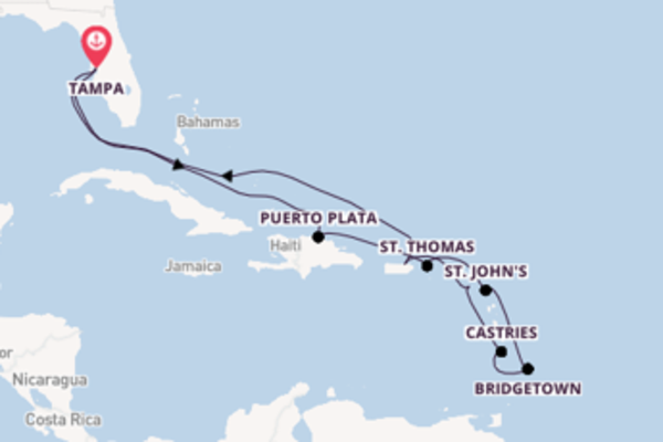 Voyage with Norwegian Cruise Line from Tampa