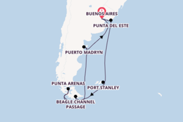 Expedition with Azamara Club Cruises from Buenos Aires