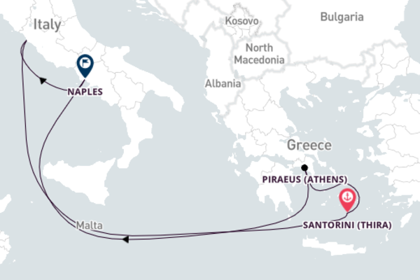 Vibrant Santorini 8-Day Excursion
