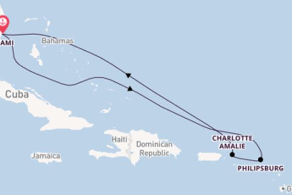 8 giorni di crociera fino a Miami