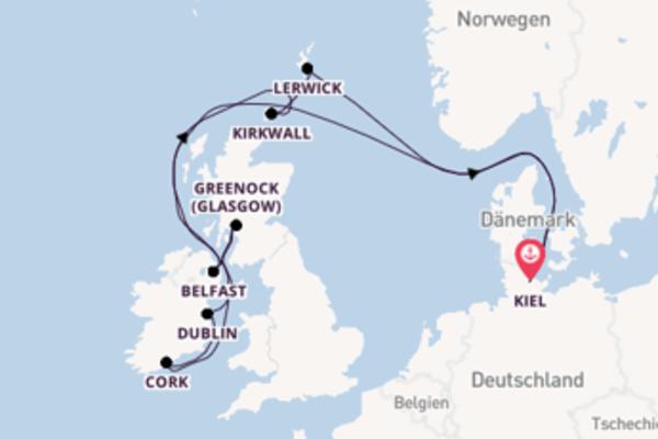 In 12 Tagen nach Kiel über Dublin