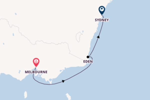 Sailing from Melbourne to Sydney