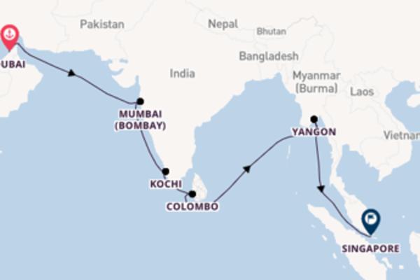 Travelling with Azamara Club Cruises from Dubai to Singapore