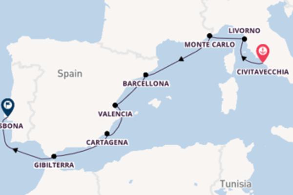 Prendere il largo verso Lisbona da Civitavecchia