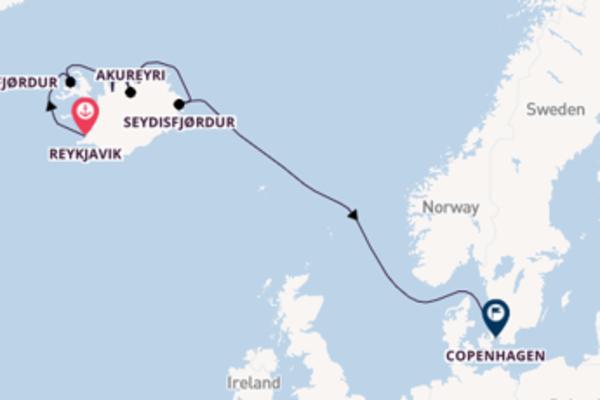 In rotta verso Copenhagen da Reykjavik