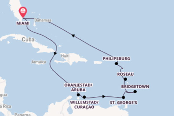 Memorable voyage from Miami with Regent Seven Seas Cruises
