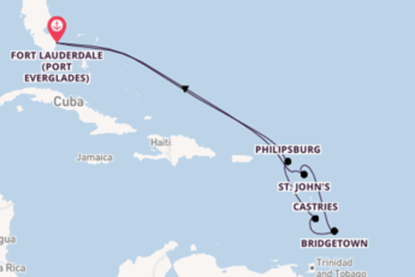 Sailing from Fort Lauderdale (Port Everglades) via Castries