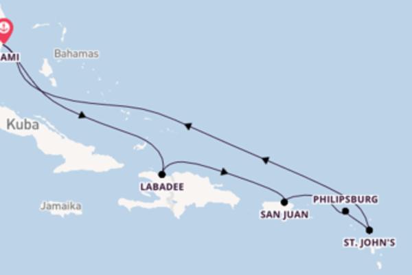 Einzigartige Reise über San Juan in 9 Tagen