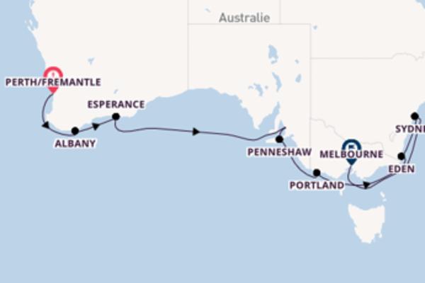 Esperance, depuis Perth/Fremantle à bord du bateau Azamara Journey